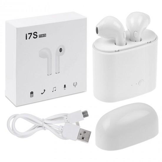 83.30 - Casti wireless ElektroStator i7S TWS, Bluetooth, Powerbank M153, Alb - Casti Audio