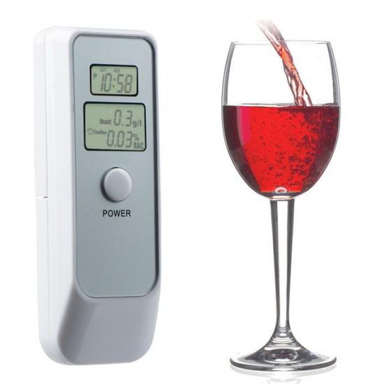 83.30 - Alcool Tester cu afisaj digital Detector personal alcool, etilotest 2 ecrane LCD - Etilotestere