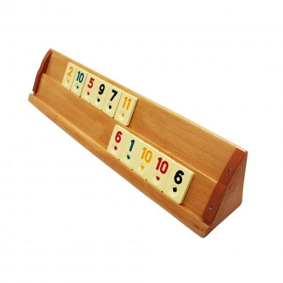 90.30 - Joc de Remi Kervan din lemn Stejar, Masiv, Lacuit - Lumea Copiilor