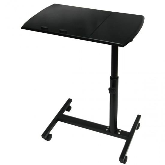 104.30 - Masa, Stand pentru Laptop, reglabil, Mini-Birou cu Roti, Blat din Lemn - Mese Laptop