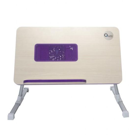 83.30 - Masa, Stand pentru Laptop Reglabil, Suport Cooler, Blat din Lemn - Mese Laptop